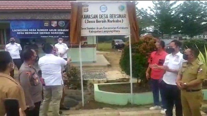 Tekan Penyalahgunaan Narkoba, Polres Lampung Utara Luncurkan Desa Bersih Narkoba