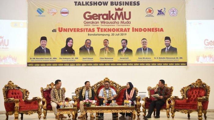 Universitas Teknokrat Bekali Mahasiswa Menjadi Wirausaha dalam Business Talkshow bersama GerakMU