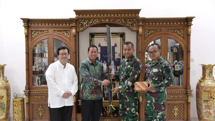 Komandan Brigade Infanteri (Danbrigif) 4 Marinir/BS Piabung Lampung Kolonel Marinir Nawawi, SE, MM, melakukan kunjungan kerja ke Universitas Teknokrat Indonesia, Senin (1/2/2021).