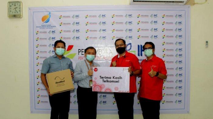Telkomsel Serahkan Bantuan Ventilator Kepada Rumah Sakit Pertamina Dumai