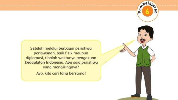 Kunci Jawaban Tema 7 Kelas 5 Halaman 144 Peristiwa Kebangsaan Seputar Proklamasi Kemerdekaan