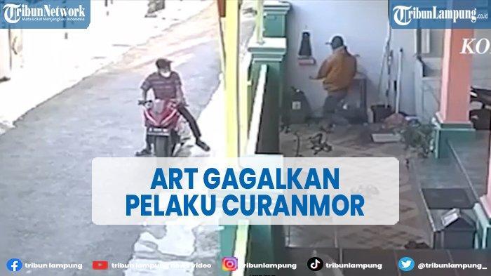 Detik-detik ART Gagalkan Pelaku Curanmor di Bandar Lampung