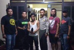 Tersangka Curat Gasak 20 Ponsel di Tiyuh Marga Jaya