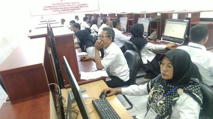 Tes Anggota Panwascam Bandar Lampung Sempat Terkendala Server