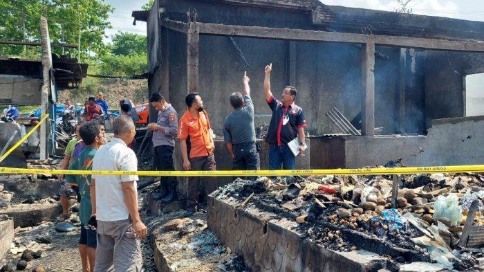 Cegah Hoaks, Polres Lamsel Kembali Datangi Pasar Bakauheni yang Terbakar untuk Olah TKP