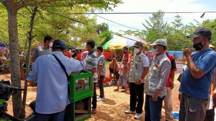 Tim Gugus Tugas Penanggulangan Covid-19 Lampung Utara Beri Imbauan Prokes di Dua Tempat Wisata