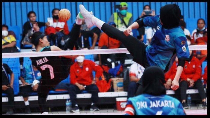 Tim Sepak Takraw Putri DKI Jakarta Putus Rekor Jawa Timur di PON XX Papua 2021