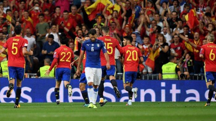 Ilustrasi - Timnas Spanyol akan mengarungi Euro 2021. Pelatih Luis Enrique tidak memanggil satu pun pemain asal klub Real Madrid.