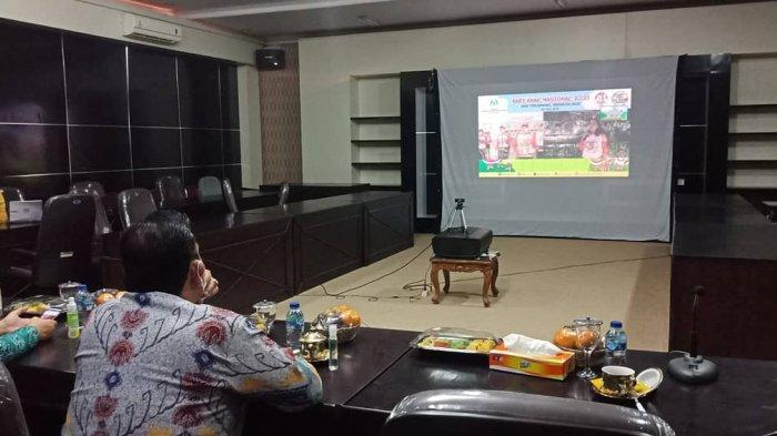 Wakil Bupati Lampung Timur Hadiri Puncak Peringatan Hari Anak Nasional Tahun 2021 Virtual
