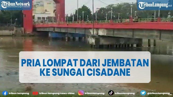 Turun dari Motor, Pria Lompat dari Jembatan Merah ke Sungai Cisadane