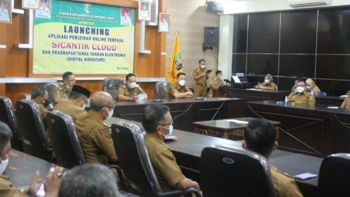 Tingkatkan Pelayanan Publik, Pemkab Lampung Timur Launching Si Cantik dan E-Signature