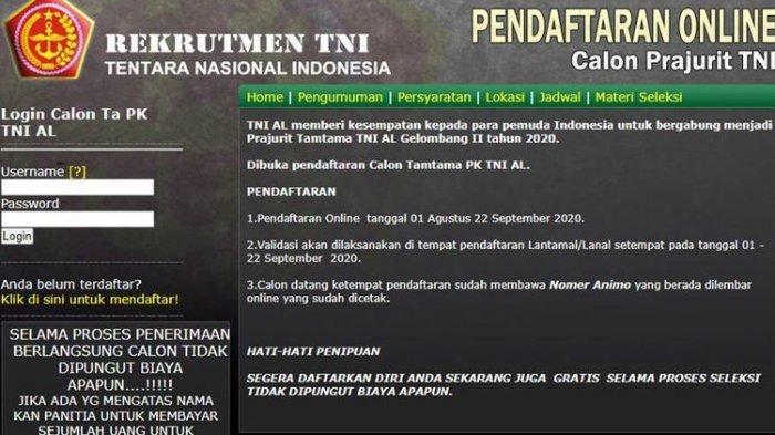 TNI AL Membuka Pendaftaran Calon Tamtama PK Gelombang II, Simak Syarat yang Dibutuhkan