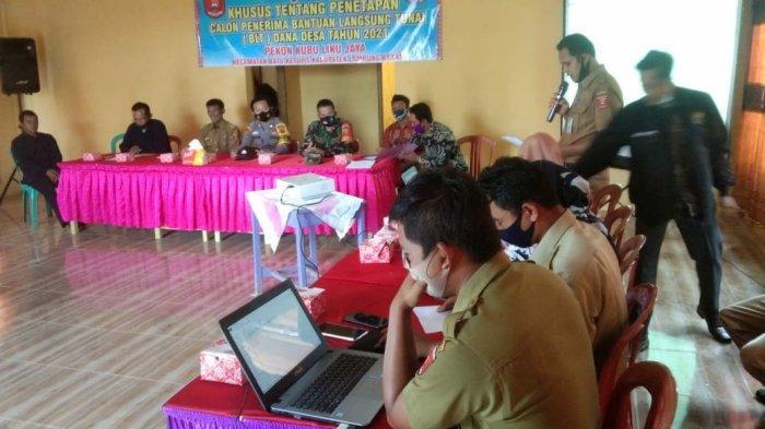 TNI Dampingi Musyawarah Pembahasan BLT di Batu Ketulis