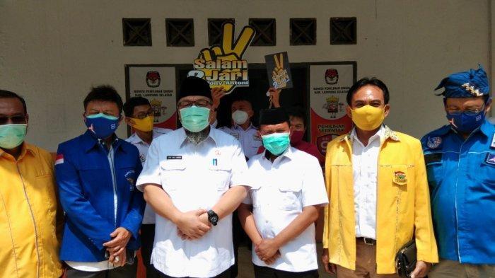 Tony-Antoni Dapat Nomor Urut 2, KPU Lampung Selatan Gelar Pengundian Nomor Urut Paslon