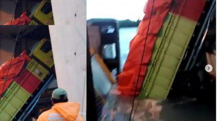 Kapal Goyang, Mobil Toyota Avanza Jatuh ke Laut Tak Jauh dari Pelabuhan Bakauheni