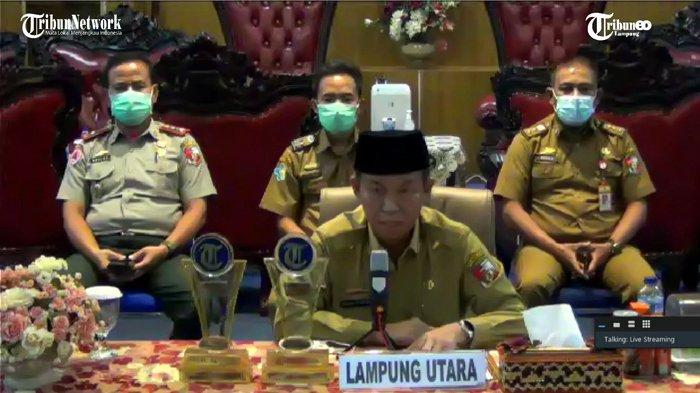Bupati Lampung Utara Ikut Peringatan Hari Lahir Pancasila Secara Virtual