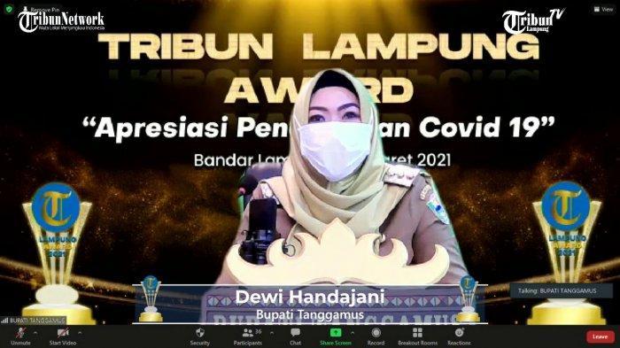 Tribun Lampung Award 2021, Pemkab Tanggamus Raih Best Social Safety Net Massive Government Support
