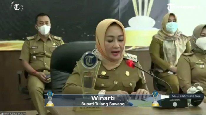 Tribun Lampung Award 2021, Tulangbawang Sabet Best Prevention Programmer Best Economiv Growth