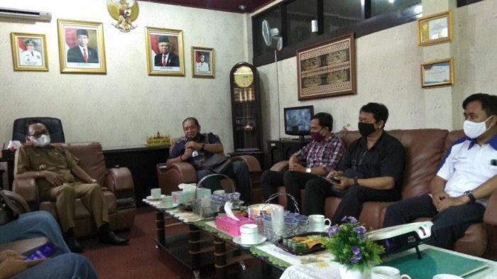 Tribun Lampung Silaturahmi dengan Disnaker Lampung