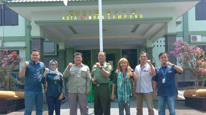 Tribun Lampung Silaturahmi ke Kodim 0410/Bandar Lampung