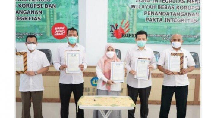 Fakultas Kedokteran Unila Deklarasi Pencanangan Pembangunan ZI Menuju WBK