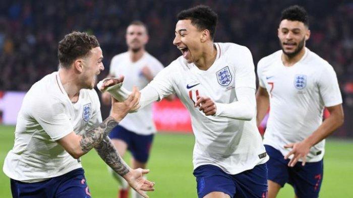 Live Streaming Inggris vs Kroasia, Gol Trippier Bawa Inggris Sementara Unggul 1-0