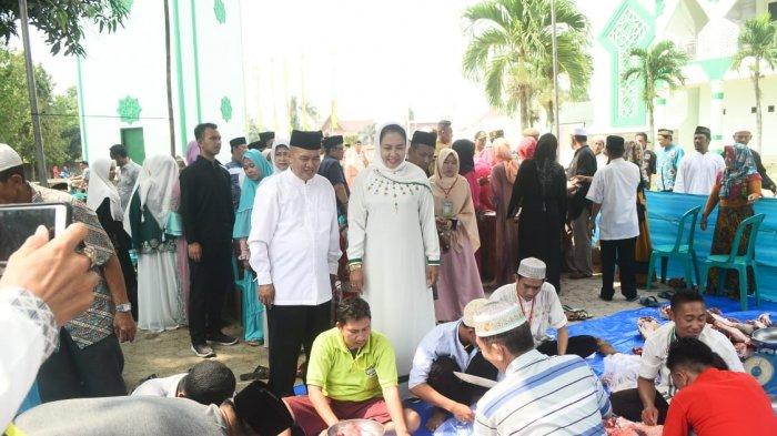 Bupati Gotong Royong  Sholat Idul Adha 1439 H, Tahun 2018 Masehi, di Masjid Islamic Center Menggala