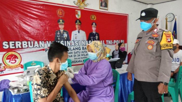 Tulangbawang Barat Lampung Gelar Vaksinasi Serentak,Kapolres: Tetap Jaga Prokes