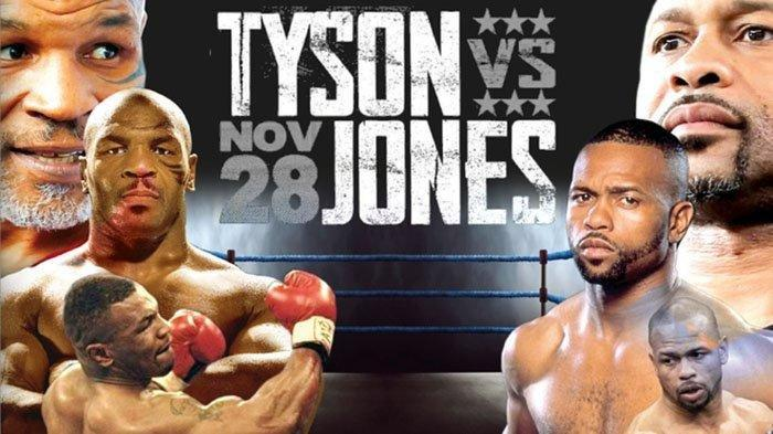 Link Live Streaming Mike Tyson vs Roy Jones Jr di YouTube BT Sport Siang Ini Pukul 13.00 WIB