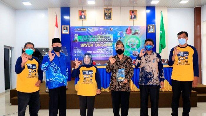 MGMP IPA Lampung Utara Kunjungi UM Metro Guna Belajar Pembuatan Pupuk dan Budidaya Sayur Organik