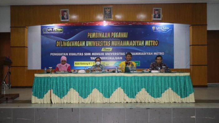 BAU UM Metro Adakan Pembinaan untuk Pegawai di Lingkungan Universitas Muhammadiyah Metro
