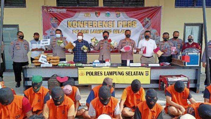BREAKING NEWS Polres Lampung Selatan Berhasil Ungkap 15 Kasus Kejahatan Selama September
