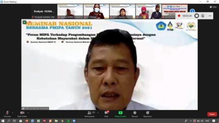 Dies Natalis Unila ke 56, Seminar Nasional : Peran MIPA pada Pengembangan IPTEK di Tengah Pandemi