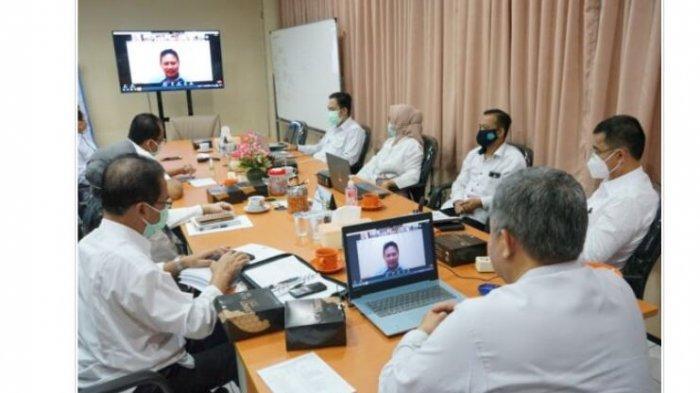 Unila Gelar Rapat Pembahasan Target Kontrak Kinerja Pemimpin PTN BLU 2021
