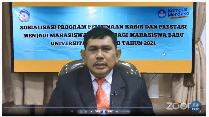 Wakil Rektor Unila Buka Sosialisasi Program Pembinaan Karir dan Prestasi bagi Maba