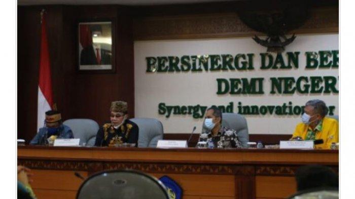 Rektor Universitas Lampung Sambut Kedatangan Rektor Universitas Palangkaraya