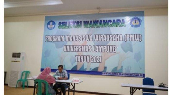 1000 Mahasiswa Unila Ikuti Seleksi Program Mahasiswa Wirausaha 2021