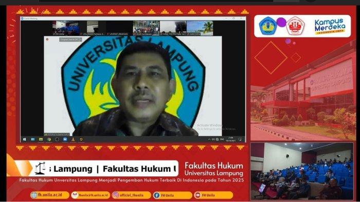 Wakil Rektor Universitas Lampung Beri Sambutan Closing Ceremony NMCC AHT 2021