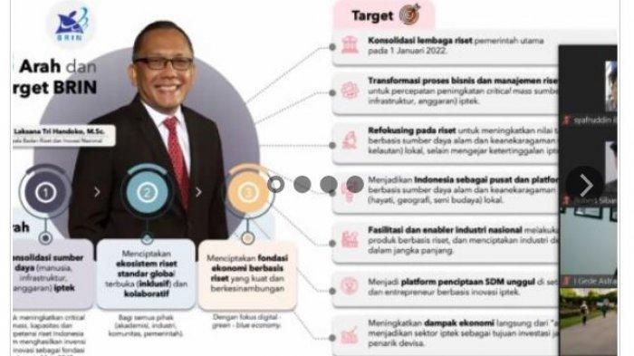 Unila Ikuti Webinar Kemitraan Strategis dalam Mendorong Prioritas Riset Nasional
