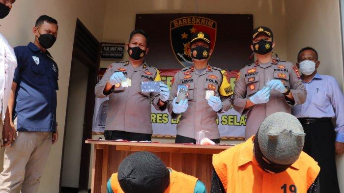 Unit Reskrim Polsek Natar Ringkus Dua Bandar Narkoba, Sabu 250 Gram Disita