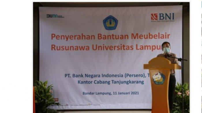 Universitas Lampung Terima Bantuan Mebel dari BNI