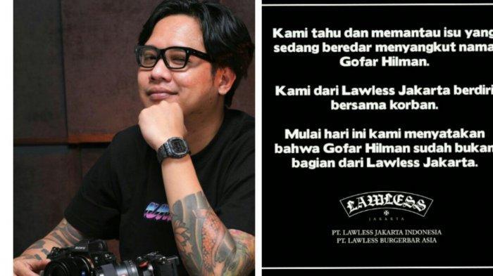 Buntut Dugaan Tindak Asusila, Gofar Hilman Didepak Dari Lawless Jakarta