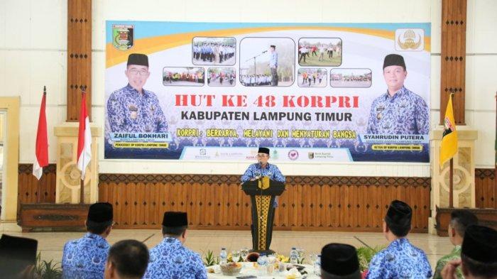 Usai Upacara, Pemkab Lampung Timur Adakan Resepsi HUT Korpri ke 48
