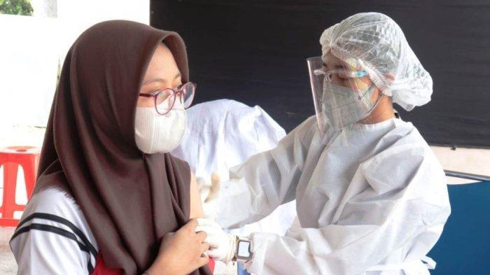 Polres Lampung Selatan Gelar Gerai Vaksin Presisi, Sebar 2.500 Dosis di 3 Sekolah dan 1 Kecamatan