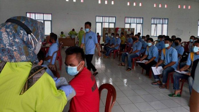 Rutan Kotabumi Lampung Utara Gelar Vaksinasi untuk Warga Binaan