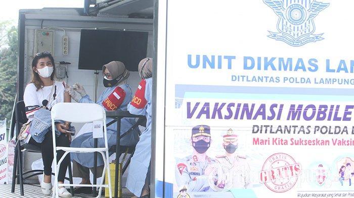 Vaksinasi Covid-19 Keliling Polda Lampung Sasar Warga yang Susah Dijangkau