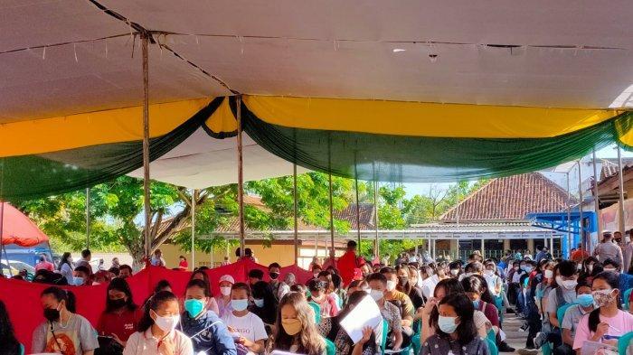Jelang PTM, Ratusan Pelajar di Pringsewu Lampung Divaksin Covid-19