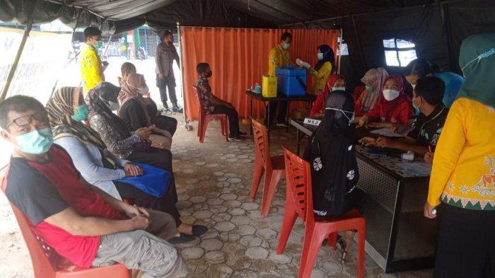 Polres Lamtim Buka Pelayanan Vaksin Covid 19 di Pasar Sukadana