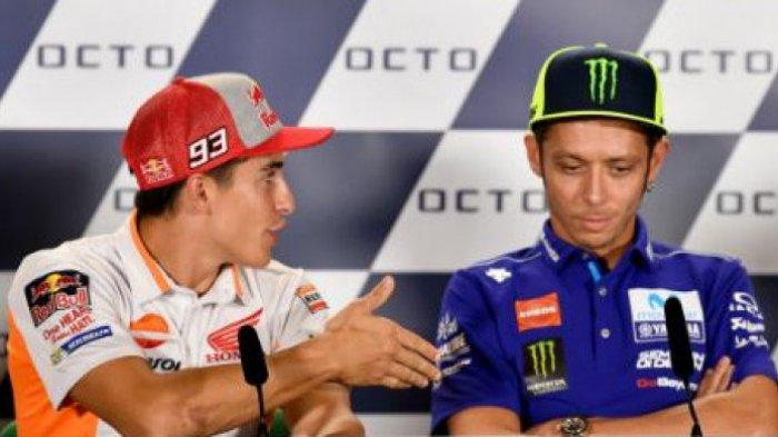 LIVE STREAMING MotoGP San Marino 2018, Akhirnya Marc Marquez Ungkap Perasaannya 'Ditolak' Rossi