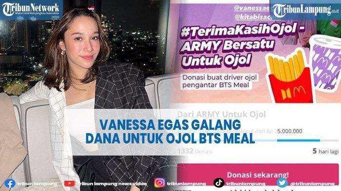 Vanessa Egas Galang Dana Untuk Ojol Antri BTS Meal